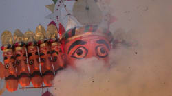 125-Feet-High Ravan Ready To Dazzle In Delhi's