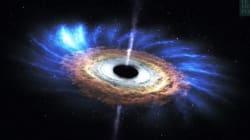 Quand un trou noir avale une