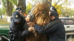 Chewbacca Arrested While Campaigning For Darth Vader In