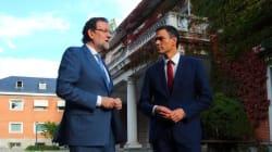 Rajoy y Pedro Sánchez comen juntos y envían un mensaje a