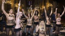 Les Femen relaxées en appel pour la dégradation d'une cloche de