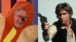 Harrison Ford déguisé en hot dog à tête de chien raconte comment il s'est cassé la jambe dans la porte du Faucon Millenium (e...