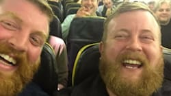 Man Meets His Exact Lookalike On A Flight, Takes Jolliest