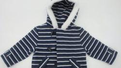 Rappel de manteaux pour bébés en raison d'un risque