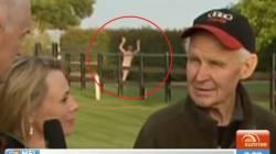 Streaker Crashes Sunrise's Live Melbourne Cup