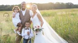 Cette photo de mariage a ému les