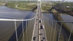 Le pont Pierre-Laporte inauguré il y a 45 ans