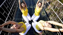 Yoga Heads To New, Terrifying Heights On Glass Bridge Over