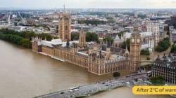 Voici Londres plus tard si le réchauffement à +2° se