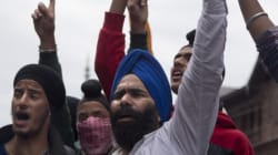 Sikhs In J&K Hold Protest Demanding Minority
