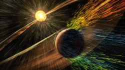 火星の大気は太陽風が吹き飛ばした