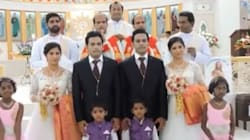 Twins Wed Twins In Kerala With Twin Priests, Twin Flower Girls And Twin Page Boys.