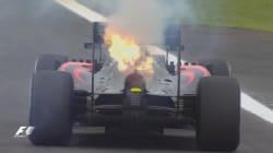 La reacción de Alonso en Twitter tras retirarse con su coche