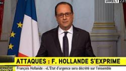 François Hollande décrète l'état d'urgence et appelle au