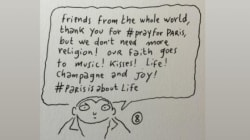 Charlie Hebdo Cartoonist Asks For More Music, Kisses After Paris