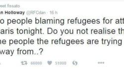 Il tweet che spiega perché è orribile incolpare i rifugiati per gli attacchi di