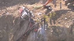 Drill Rig Hanging Over Cliff, Driver Trapped In Queensland Quarry