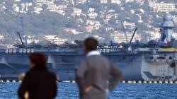 Départ du porte-avions Charles-de-Gaulle pour combattre