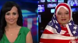 Un hijab aux couleurs du drapeau américain pour dénoncer l'islamophobie de