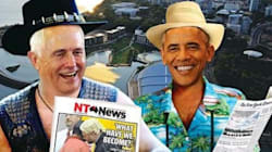 Amazing NT News Front Page After Turnbull Told Obama To Get A