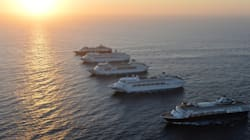 Sydney Harbour Rocks In Five Ship