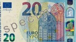 Le nouveau billet de 20 euros mis en circulation