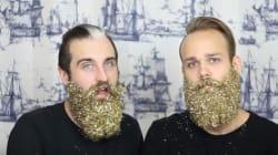 Une barbe pailletée pour les
