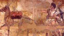 I carabinieri ritrovano una tomba dipinta di un eroe di Paestum