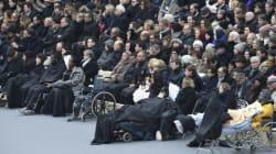 Des blessés des attentats ont tenu à être présents à l'hommage