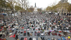 Thousands Leave Shoes In Paris To Symbolize Banned Climate