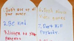 Les 10 commandements revisités par un enfant de 11 ans, ça vaut la