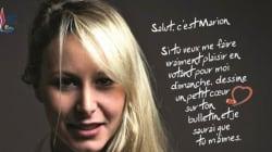 La réponse (en smiley) de Marion Le Pen à ce faux