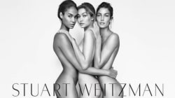 Gigi, Joan et Lily nues pour Stuart Weitzman