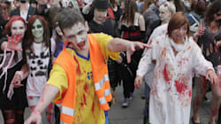 Zombie Extras Hurt In Movie