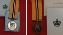 Calgary Police Return Missing War Medal To British
