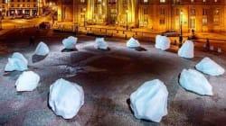 Une horloge de glace en plein Paris