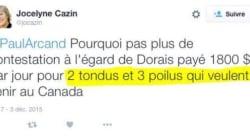 Le tweet de Jocelyne Cazin sur les réfugiés syriens qui va faire