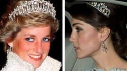 Kate Middleton se pare d'un diadème de la princesse