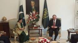 Sushma Swaraj Meets Pakistan's Prime Minister Nawaz