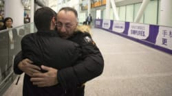 Cheers Erupt At Airport As Syrian Refugees Arrive In