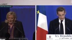 VIDÉO - Entre le discours de Sarkozy et ceux de Valls et Le Pen, les télés ont