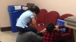 La mamma fa l'esame e il professore si improvvisa baby