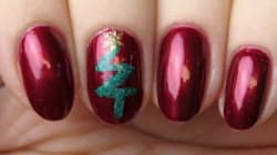 This Festive Nail Art Design Will Get You Into The Christmas