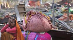 Woman Gives Birth Amid Shakur Basti Rubble In Freezing Delhi