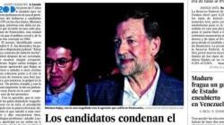 Le coquard de Mariano Rajoy à la Une de la presse