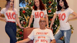 Cette photo de famille de Noël ne fait pas