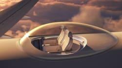 Le siège d'avion du futur avec vue panoramique sur le