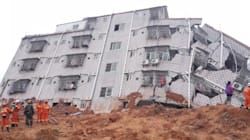 Startling Images Show Landslide Topple Chinese Buildings, With Scores Still