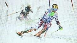 Le slalomeur Marcel Hirscher échappe de justesse à la chute d'un