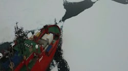 South Pole Mission: Drone Guides Supply Ship Through Thick Antarctic